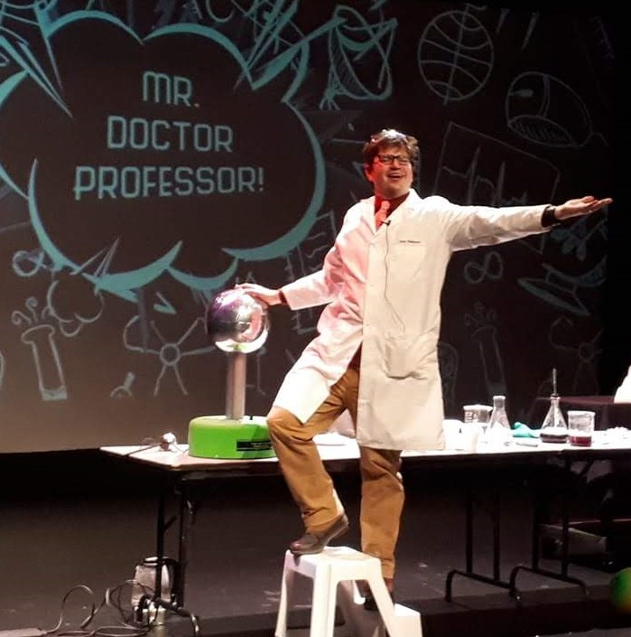 Picture of Pat Nelson as Mr. Dr. Professor